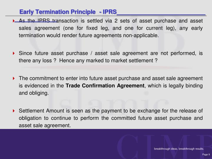 Early Termination Principle	- IPRS