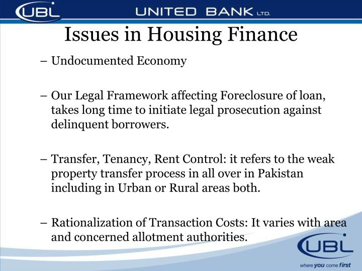 Issues in Housing Finance