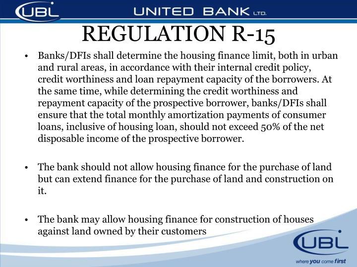REGULATION R-15