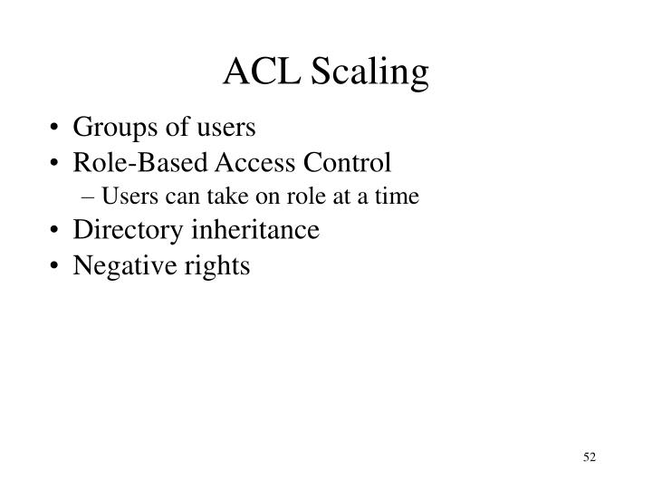 ACL Scaling