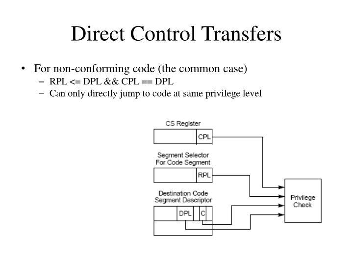 Direct Control Transfers