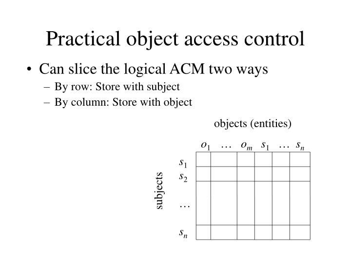 objects (entities)