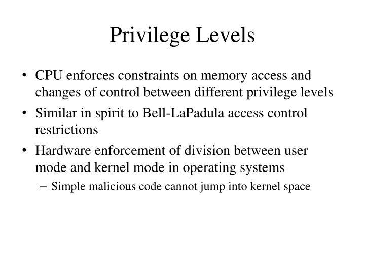 Privilege Levels