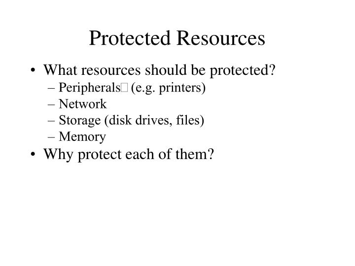 Protected Resources
