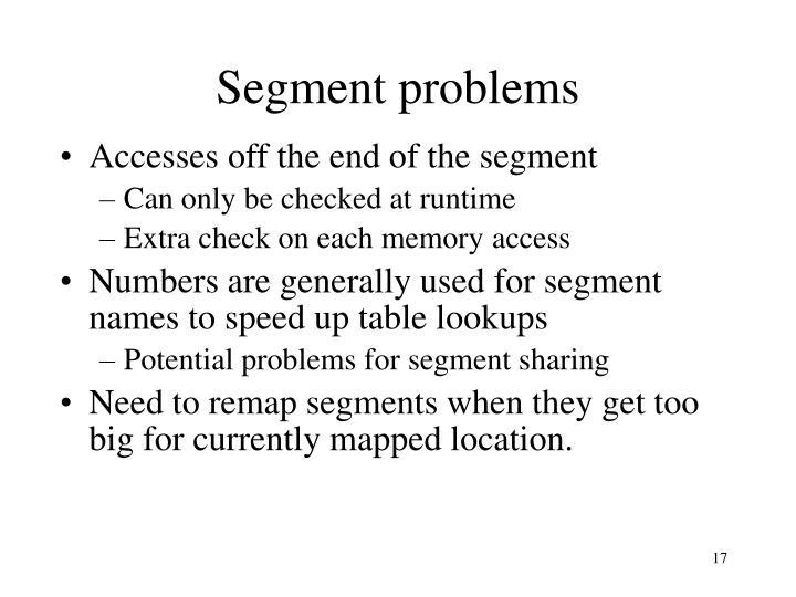 Segment problems