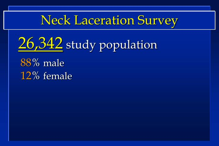Neck Laceration Survey