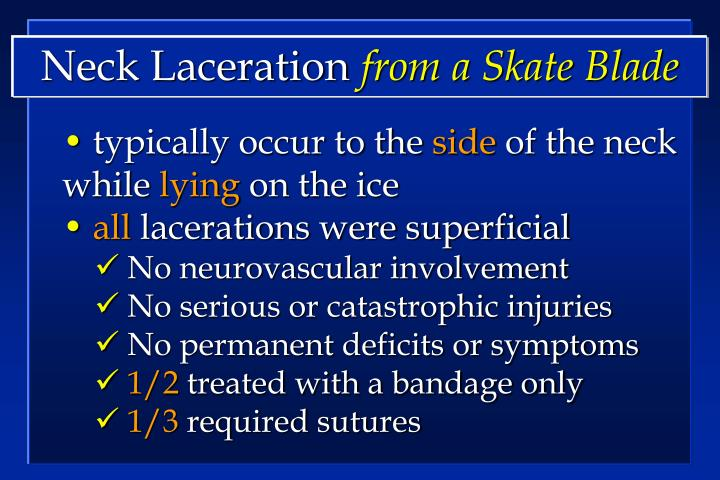 Neck Laceration