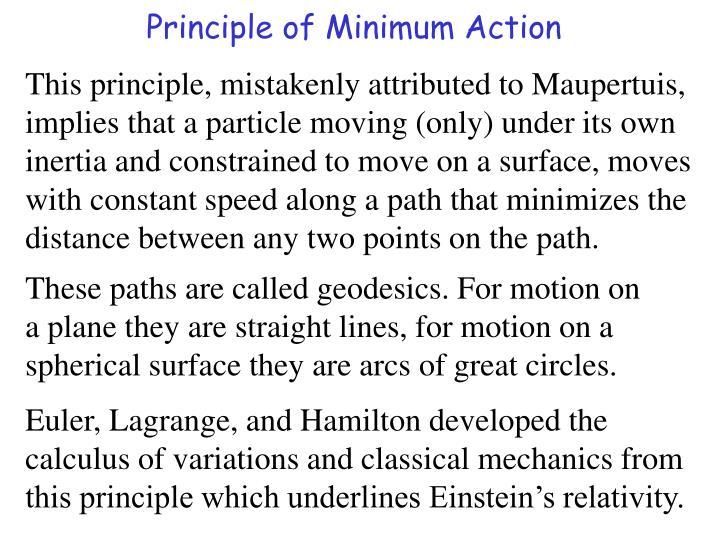 Principle of Minimum Action