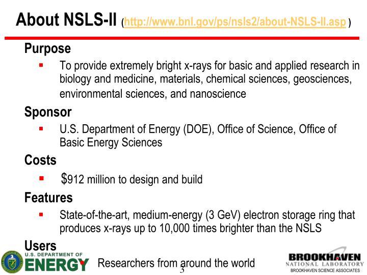 About nsls ii http www bnl gov ps nsls2 about nsls ii asp