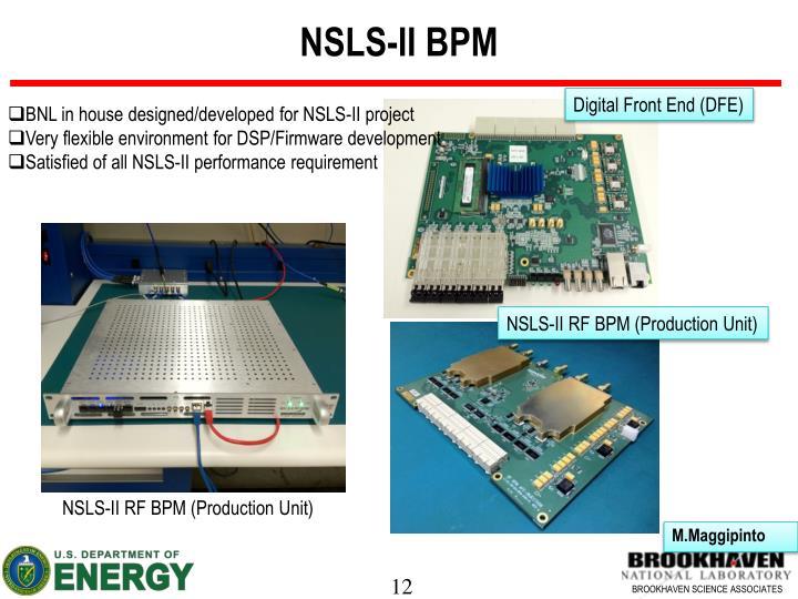 NSLS-II BPM