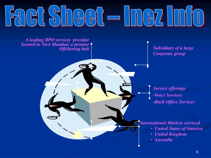 Fact Sheet – Inez Info