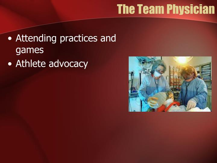 The Team Physician