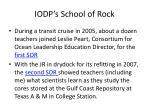 iodp s school of rock
