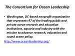 the consortium for ocean leadership