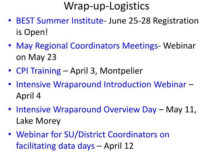 Wrap-up-Logistics
