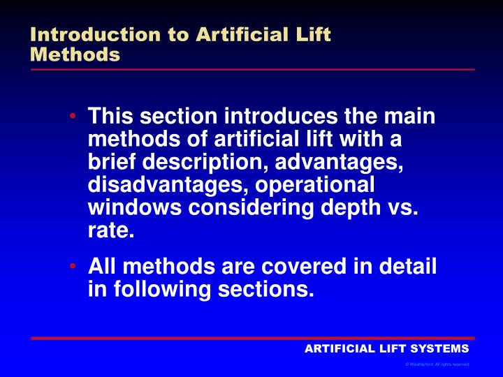 introduction to artificial lift methods n.