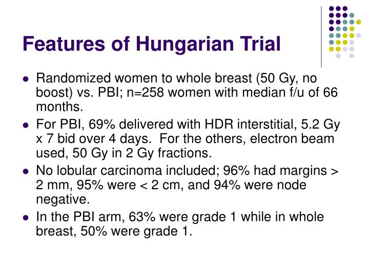 Features of Hungarian Trial