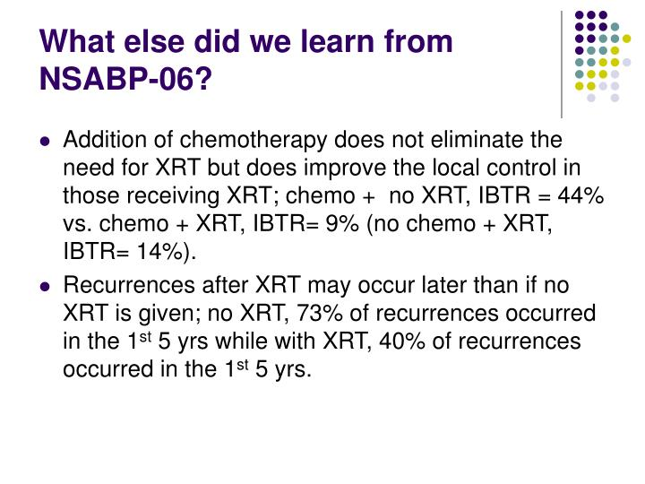 What else did we learn from NSABP-06?