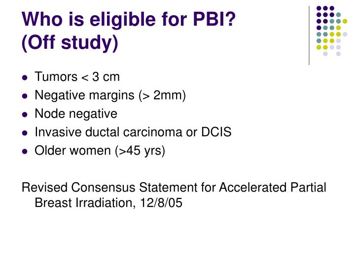 Who is eligible for PBI?