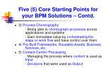 five 5 core starting points for your bpm solutions contd