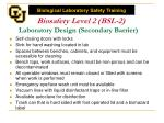 biosafety level 2 bsl 2 laboratory design secondary barrier
