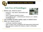 safe use of centrifuges