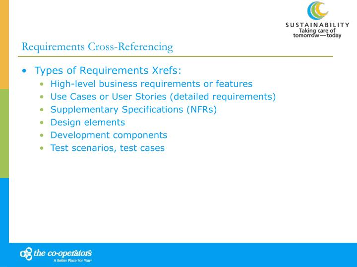 Requirements Cross-Referencing