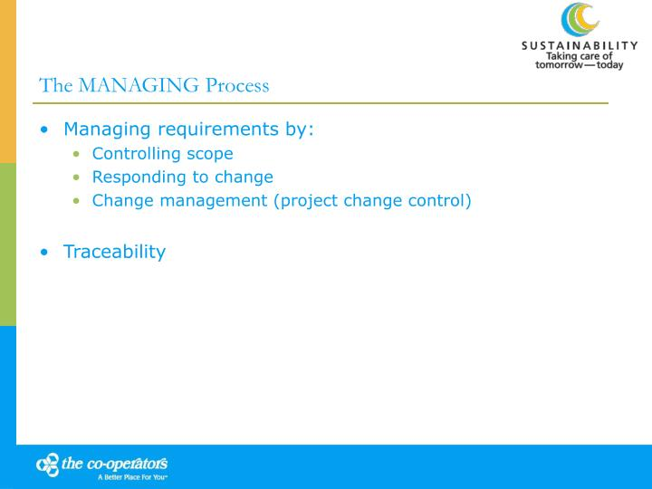 The MANAGING Process
