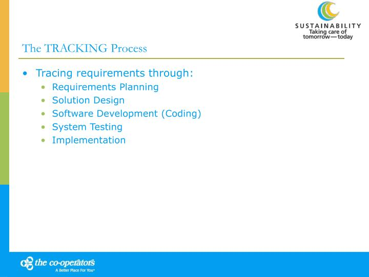 The TRACKING Process