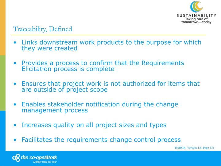 Traceability, Defined