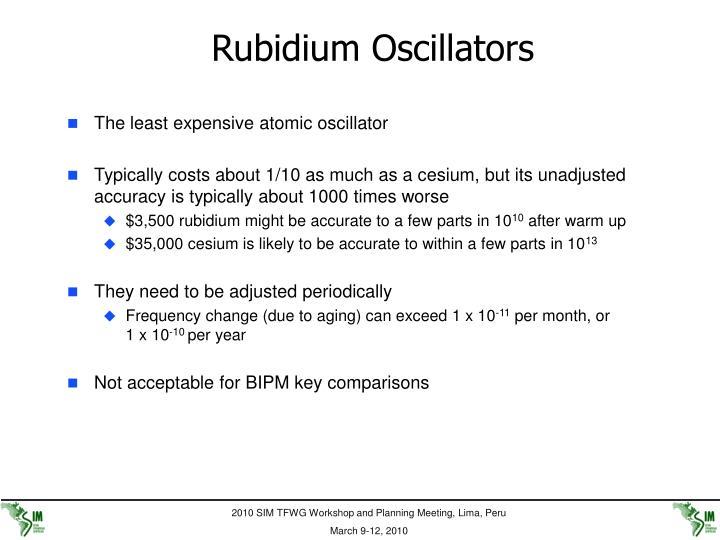 Rubidium Oscillators
