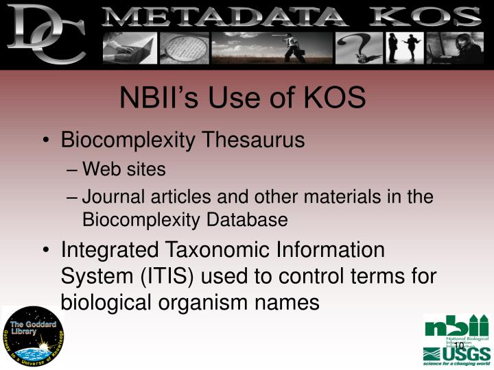 NBII's Use of KOS