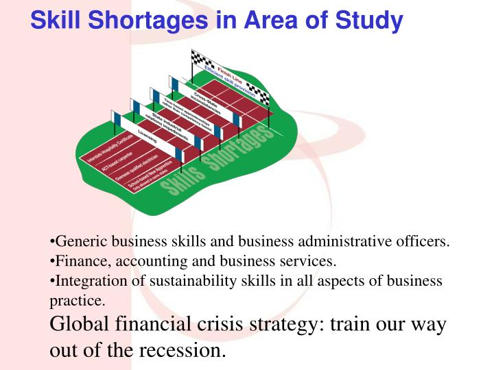 Skill Shortages in Area of Study