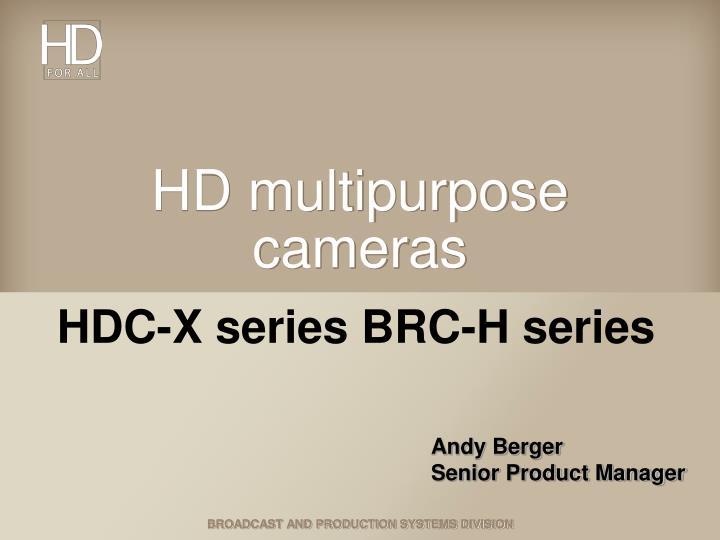 hd multipurpose cameras n.