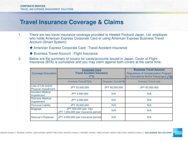 travel insurance coverage claims n.