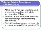 vietnam s existing commitments on services cont