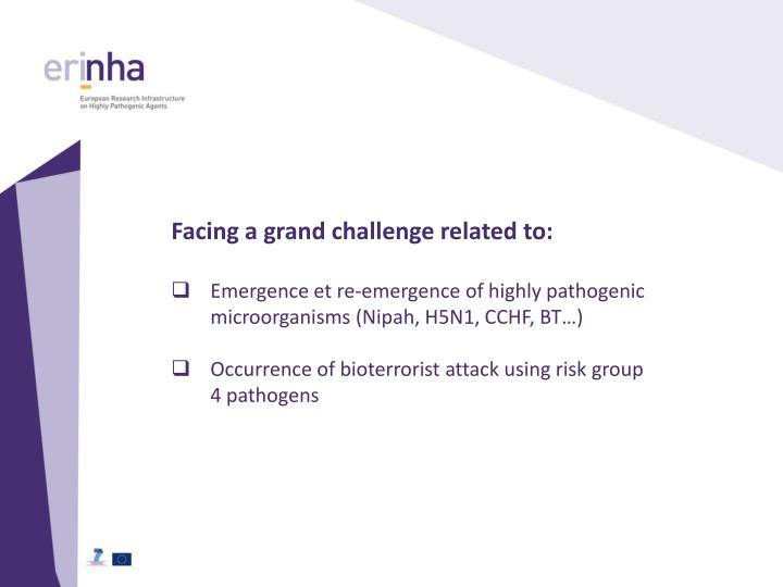 Facing a grand challenge related to: