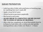 smear preparation