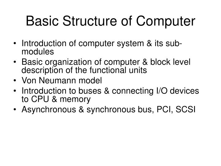 basic structure of computer n.