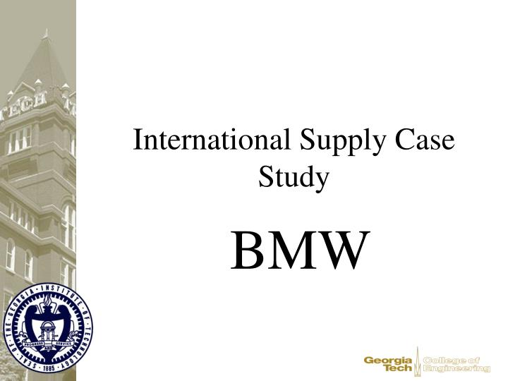 bmw case study essays Bmw case study analysis 53,585 views 1 bmw films a case study by: victoria gnatoka 2 bmw in years 1916 bmw was founded as an aircraft engine manufacturer 1929 first automobile produced 1980s bmws position in the luxury/performance segment had been firmly established.