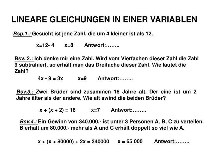 Berühmt Antwort Gleichungen Zeitgenössisch - Mathematik & Geometrie ...