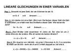 lineare gleichungen in einer variablen