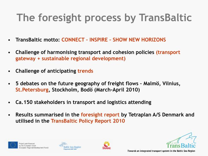The foresight process by TransBaltic