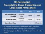 conclusions precipitating cloud population and large scale atmosphere