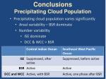 conclusions precipitating cloud population