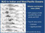 mjo in indian and west pacific oceans