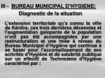 iii bureau municipal d hygiene diagnostic de la situation