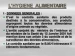 l hygiene alimentaire