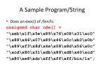 a sample program string