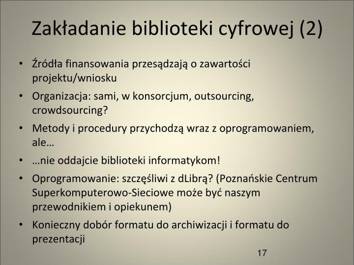 Zakładanie biblioteki cyfrowej (2)